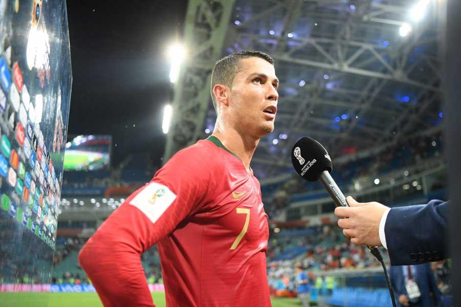 「僕らは本命じゃないけど優勝候補」と試合後ロナウドは強く言い放った【写真:Getty Images】
