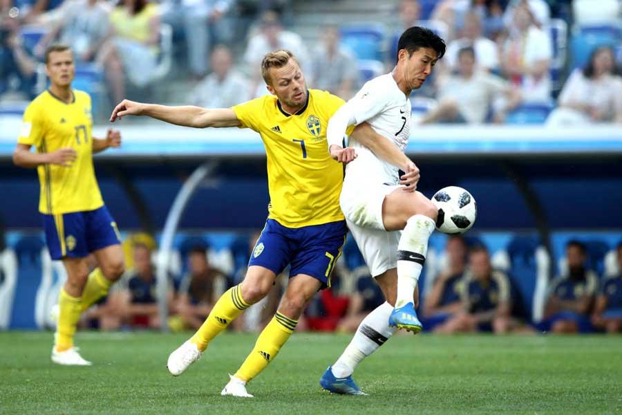 韓国対スウェーデンは0-0で後半へ【写真:Getty Images】