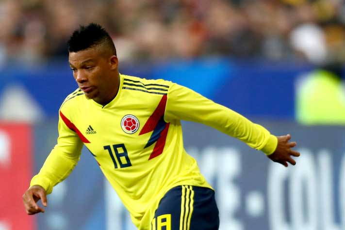 コロンビア代表の左SBフランク・ファブラは、左膝前十字靭帯断裂でW杯欠場が決定的となった【写真:Getty Images】