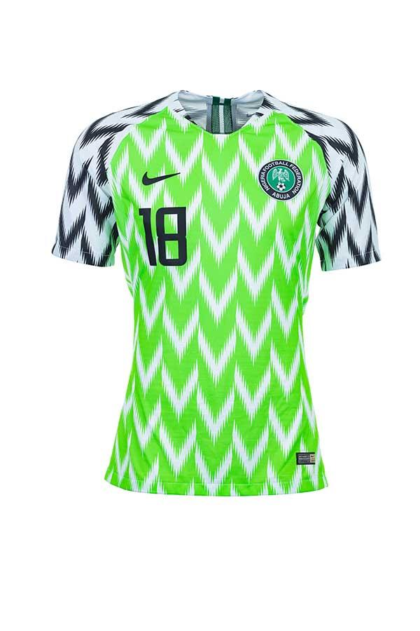 ナイジェリア代表の奇抜デザインのユニフォームが爆発的なヒットを飛ばしている【写真:Getty Images】