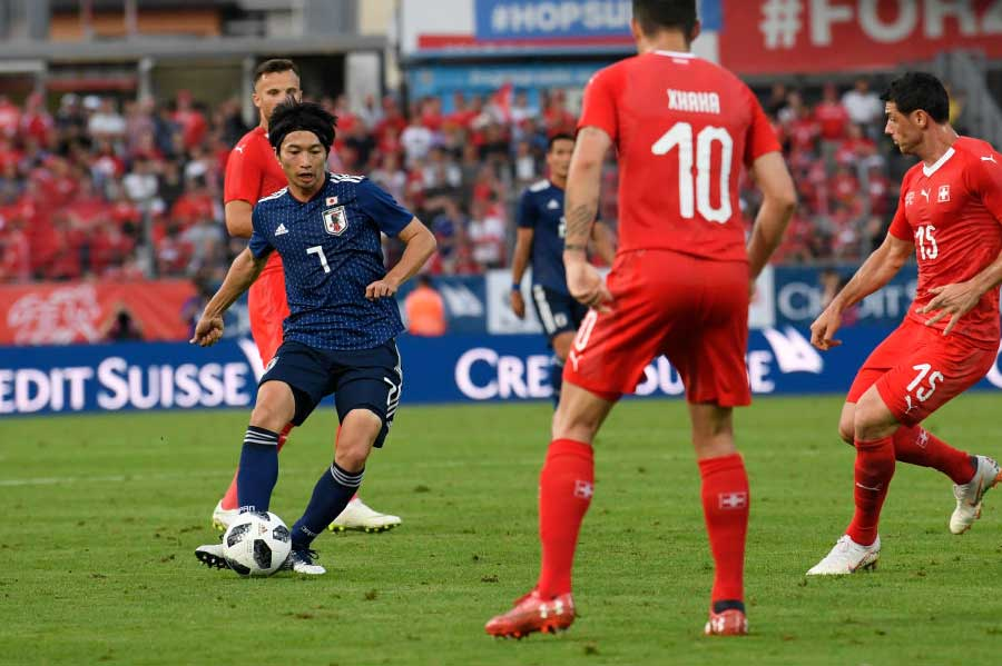 日本代表の柴崎岳が、リーガ選出の「ロシアW杯で注目すべき8名」に抜擢されている【写真:Getty Images】