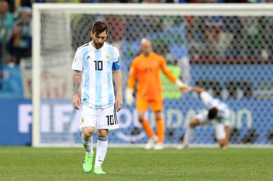 """アルゼンチンのエースFWメッシを襲う""""不吉なデータ""""とは?【写真:Getty Images】"""