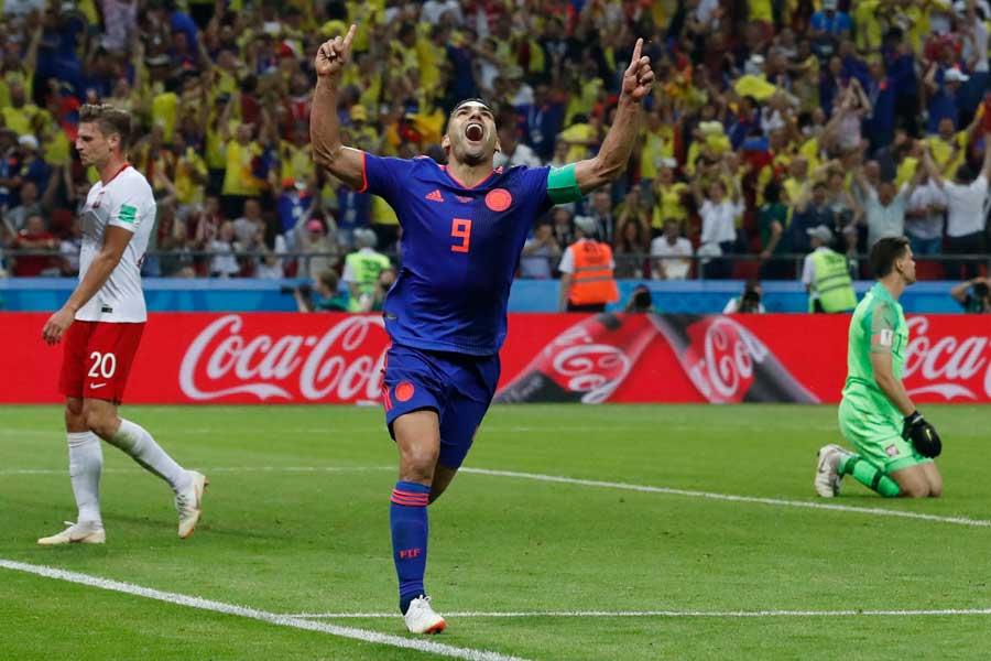 ファルカオが待望のW杯初ゴール【写真:AP】