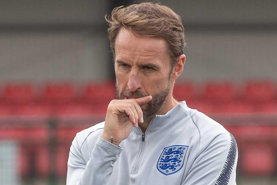 イングランド代表を率いるギャレス・サウスゲイト監督【写真:Getty Images】