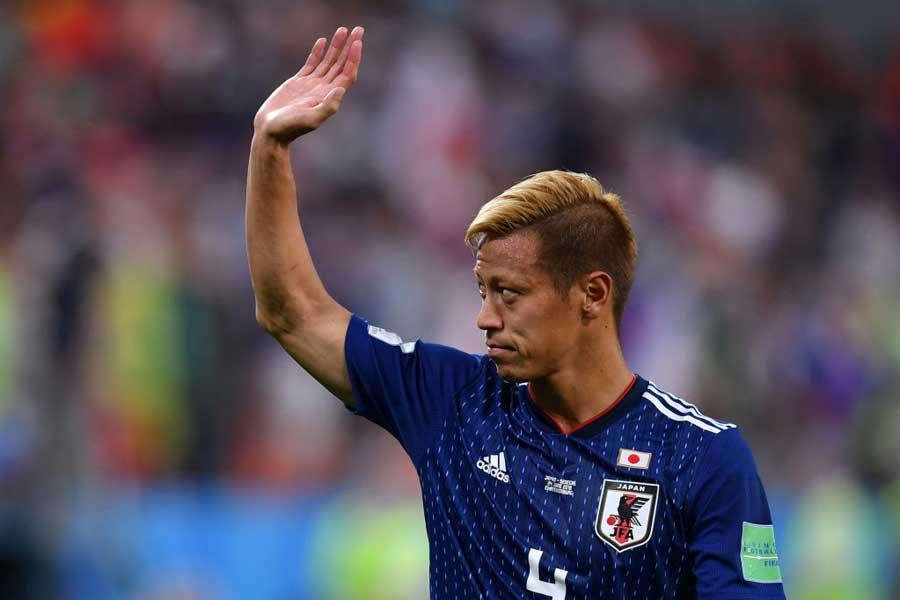 同点弾を叩き込んだMF本田圭佑、試合後に代表批判について言及【写真:Getty Images】