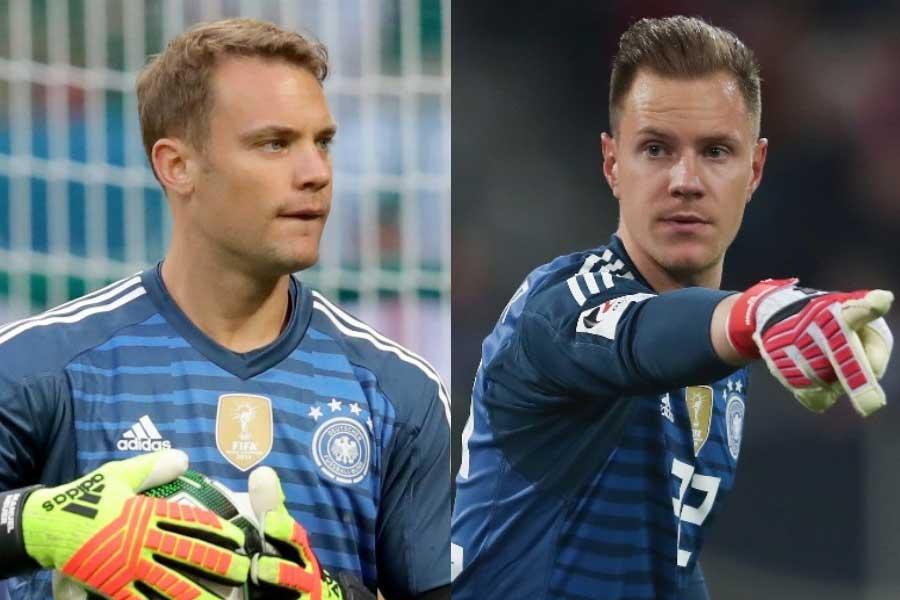 ドイツ代表GKのノイアー(左)、テア・シュテーゲン(右)【写真:Getty Images】