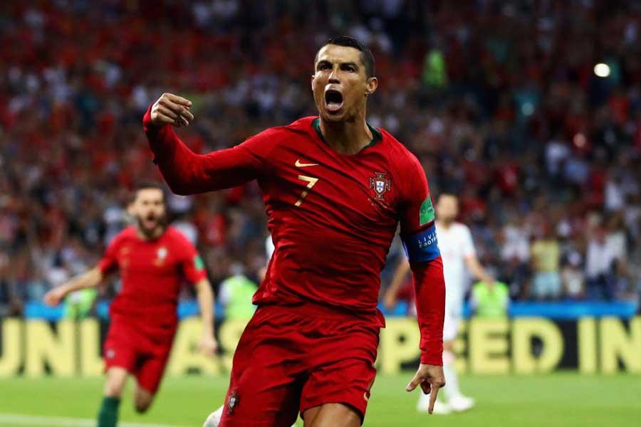 スペイン戦、ハットトリックを達成したC・ロナウド【写真:Getty Images】