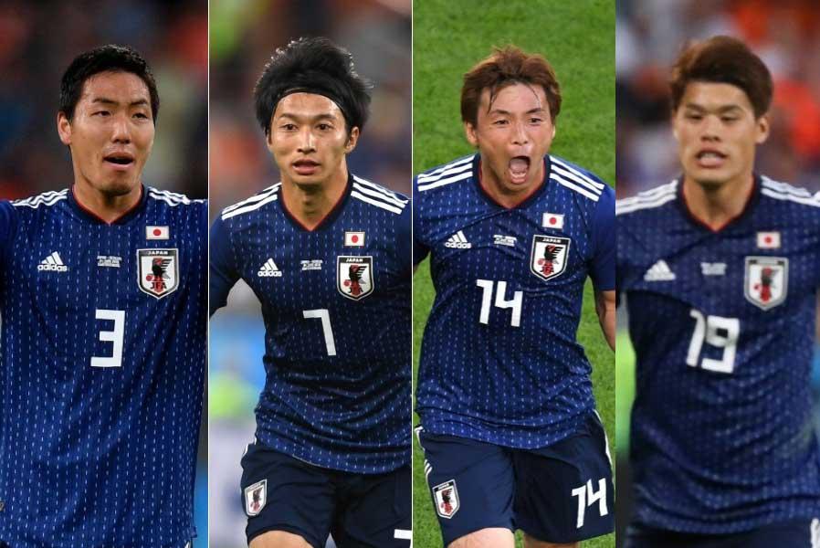 西野ジャパンに活力を与えている4選手 (左から)昌子、柴崎、乾、酒井宏【写真:Getty Images & AP】