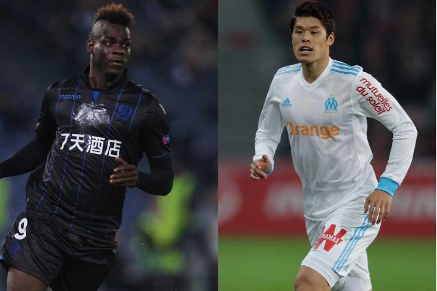 バロテッリ(左)と酒井宏樹(右)が新シーズンに共闘か、マルセイユ幹部が獲得の動き認める【写真:Getty Images】