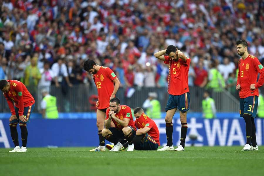 スペイン代表はベスト16で姿を消した【写真:Getty Images】