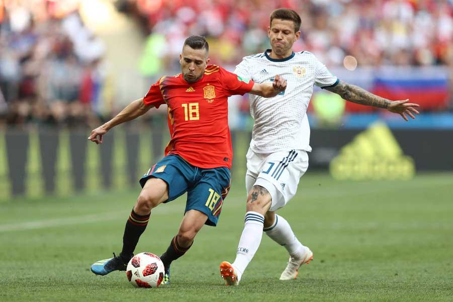 スペイン対ロシアは今大会初の延長戦に突入した【写真:Getty Images】