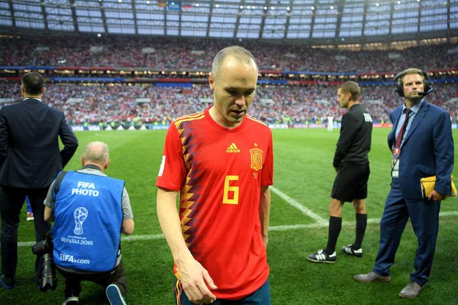 イニエスタがスペイン代表引退を表明した【写真:Getty Images】