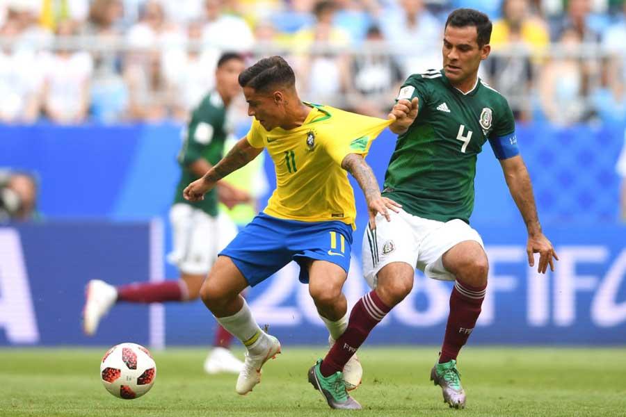 ブラジル対メキシコの前半は、0-0のまま終了した【写真:Getty Images】