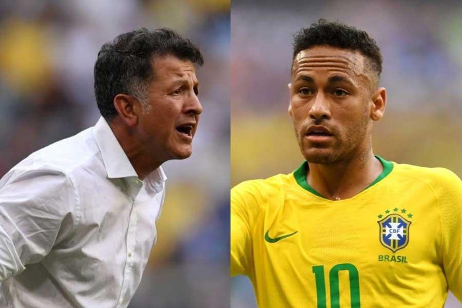 メキシコ代表のオソリオ監督が、ブラジル代表のネイマールに苦言を呈した【写真:Getty Images】
