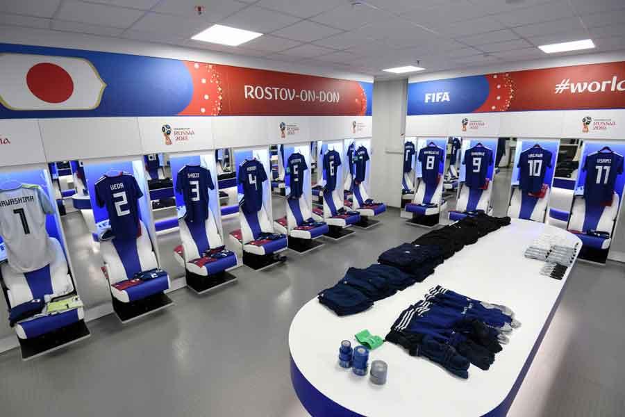 日本代表ロッカールームが試合後、片付けられていたことにFIFAのスタッフが感銘を受けている(写真はイメージです)【写真:Getty Images】