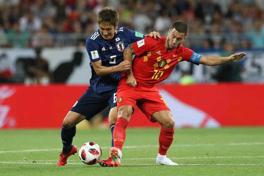 日本対ベルギーは前半を0-0で折り返した【写真:Getty Images】