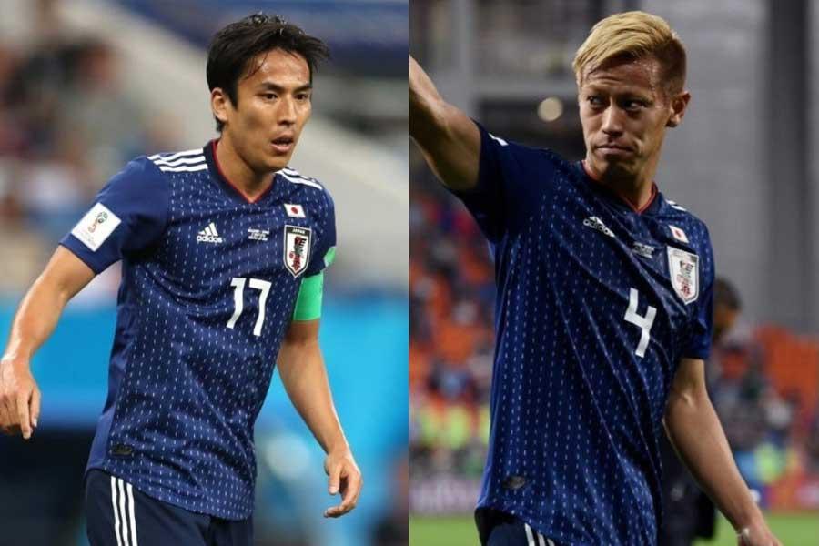 長谷部と本田が今大会限りでの代表引退を表明し、新たにチームを支える選手の台頭が待たれる【写真:Getty Images】