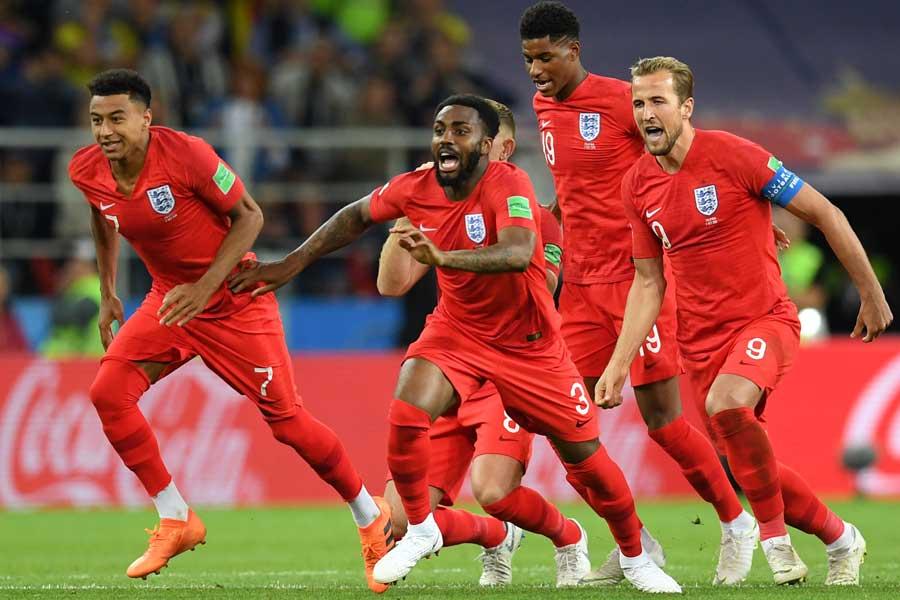 イングランドがPK戦を制して8強入りを果たした【写真:Getty Images】