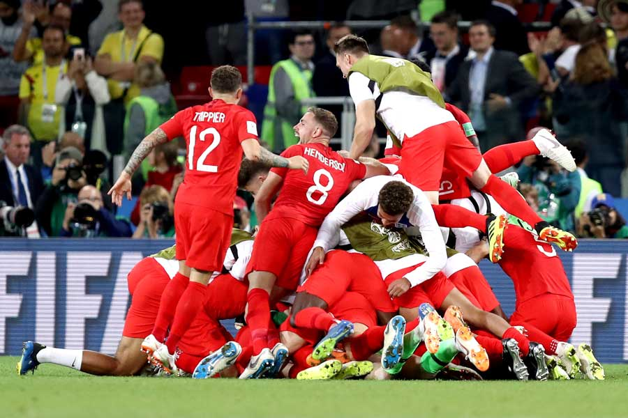 イングランドはW杯4度目のPK戦で初勝利を挙げた【写真:Getty Images】