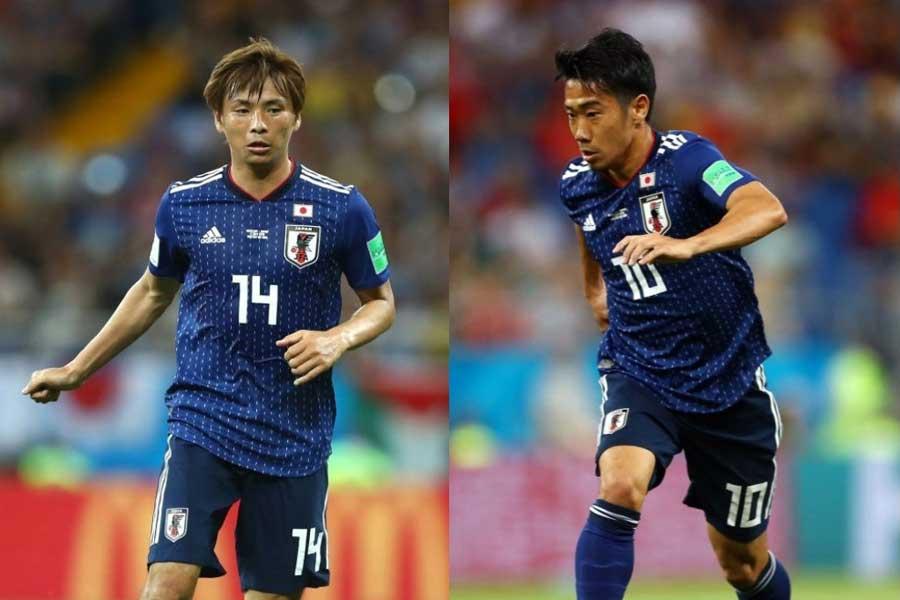 """日本代表の香川と乾のアタッカーコンビは、ピッチ外でも""""ホットライン""""を形成しているようだ【写真:Getty Images】"""