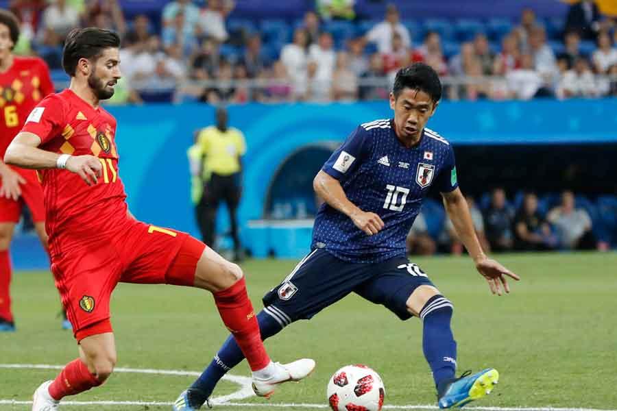 W杯での活躍にリバプールファンが香川にラブコールを送っている【写真:AP】