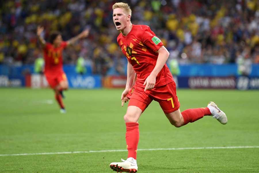 ベルギーが2-0とリードを奪って試合を折り返した【写真:Getty Images】