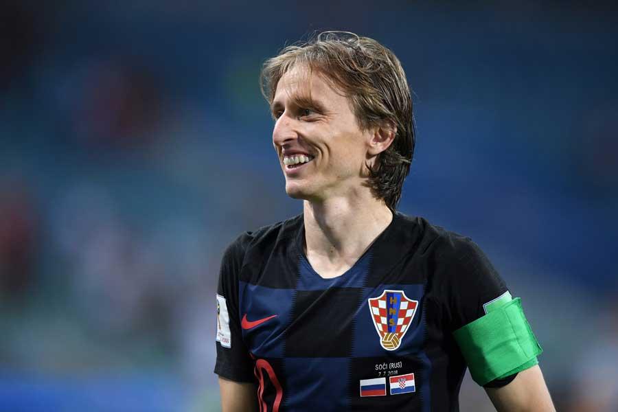 クロアチアのベスト4進出にモドリッチは「大きなことを成し遂げたい」と意気込んだ【写真:Getty Images】