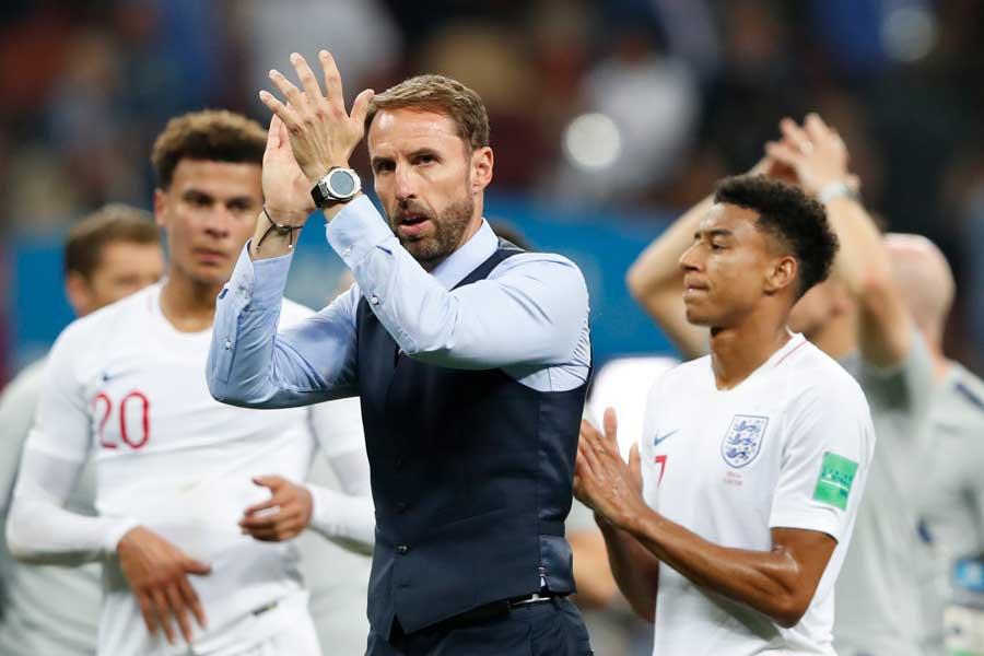 逆転負けを喫したイングランド代表のサウスゲイト監督は、クロアチア代表との経験の差を痛感していた【写真:AP】