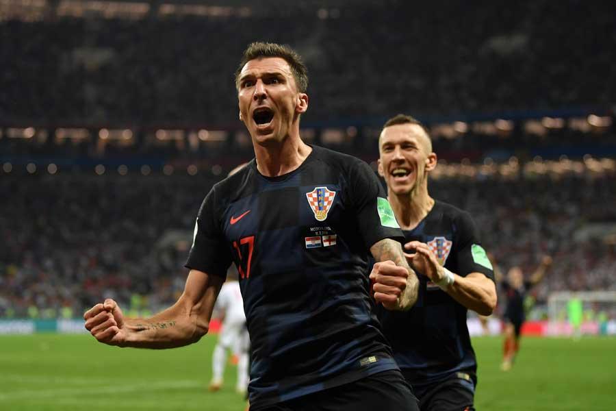 イングランド戦で決勝点を挙げたマンジュキッチはクロアチアの戦いを誇った【写真:Getty Images】