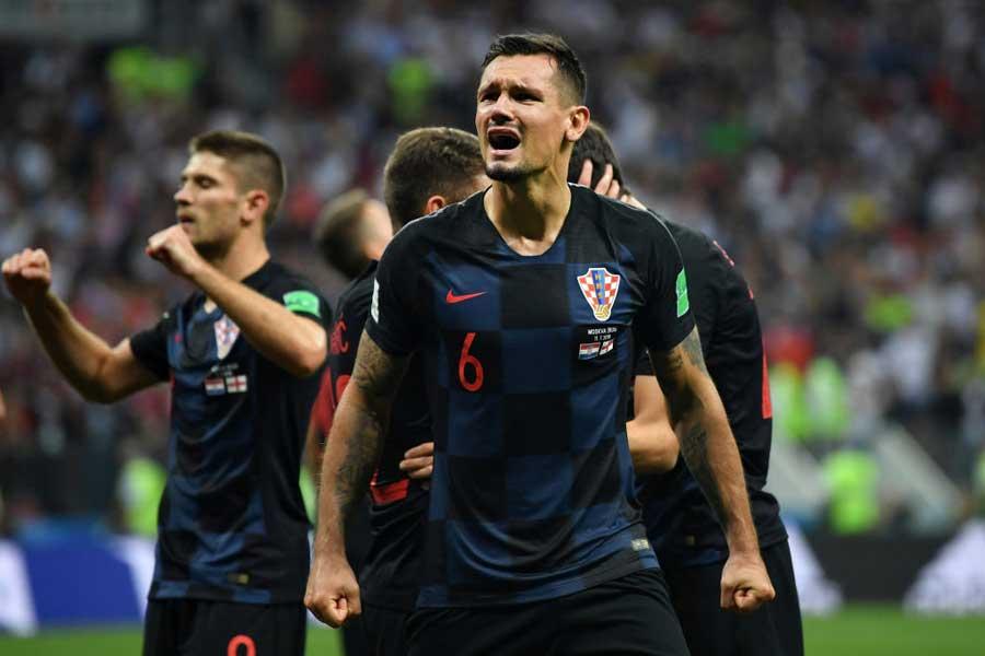 クロアチア代表DFロブレンは、イングランド代表よりも「精神面で強かった」と勝利の要因を分析している【写真:Getty Images】