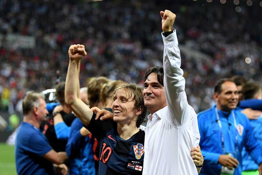 クロアチア代表のダリッチ監督は、イングランドメディアを批判したモドリッチに同調している【写真:Getty Images】