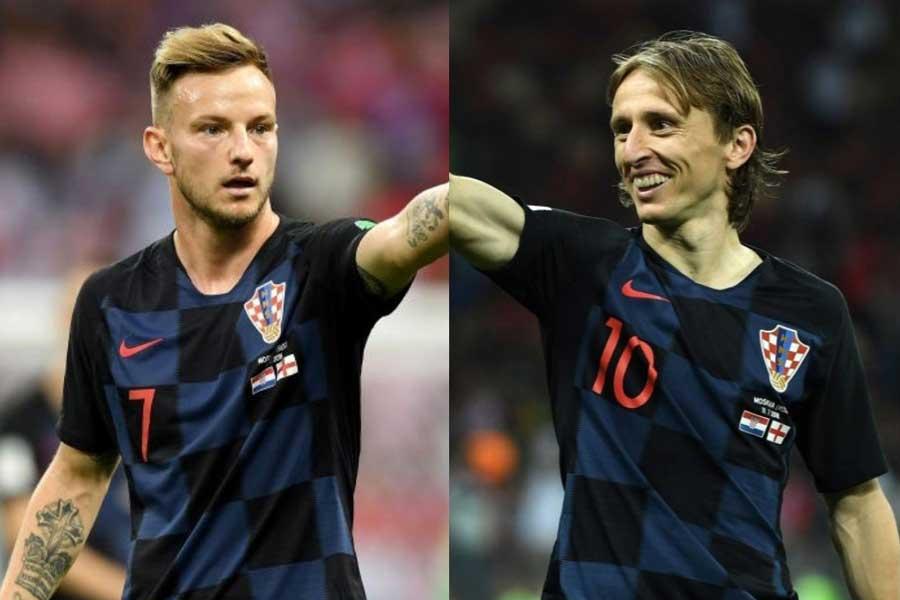 クロアチア代表の中盤を支えるラキティッチは、相棒であるモドリッチを称賛している【写真:Getty Images】