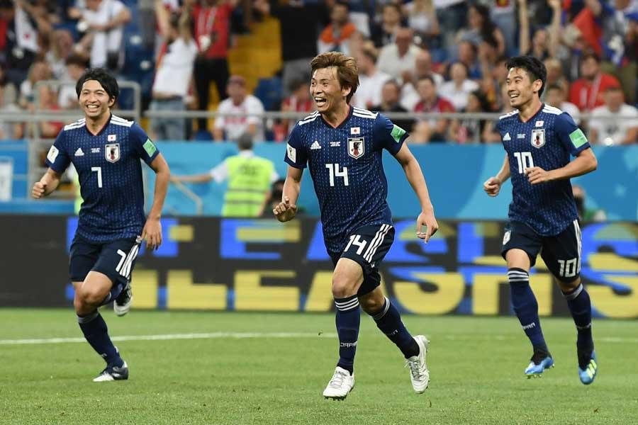 赤い悪魔をあと一歩まで追いつめた日本の健闘ぶりは多くの人から称賛されている【写真:Getty Images】