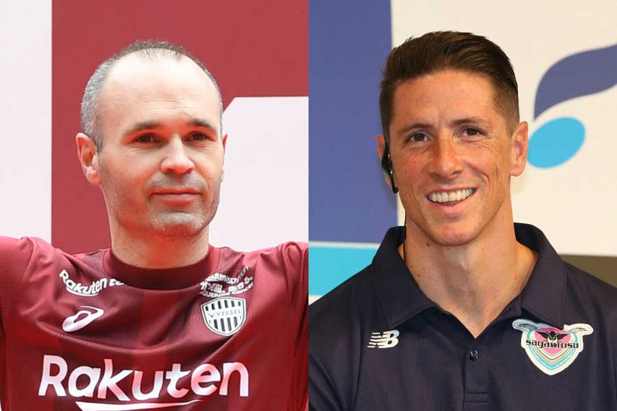 神戸に加入したイニエスタ(左)、鳥栖に加入したトーレス(右)【写真:Getty Images & Football ZONE web】