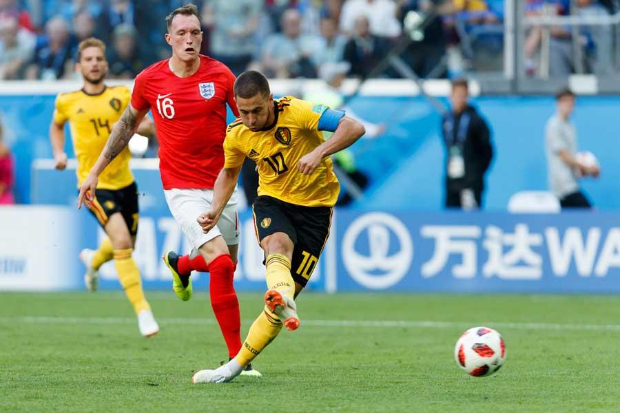 最後はアザールの一撃でイングランドを撃破【写真:Getty Images】