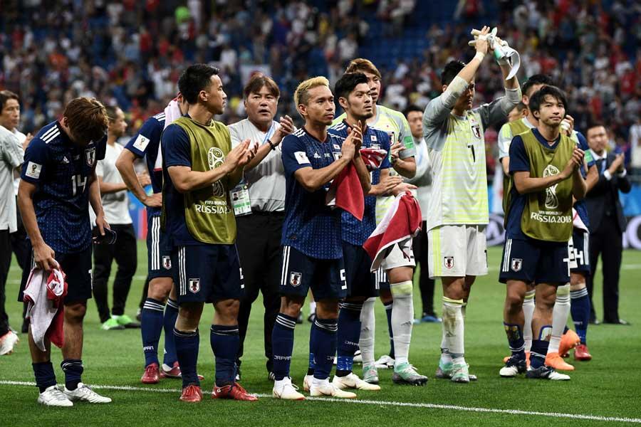 ベルギー相手にあと一歩のところまで追いつめた日本代表【写真:Getty Images】