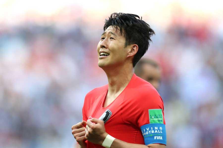 韓国代表FWソン・フンミンは、兵役免除のラストチャンスとなるアジア大会で結果を残せるだろうか【写真:Getty Images】