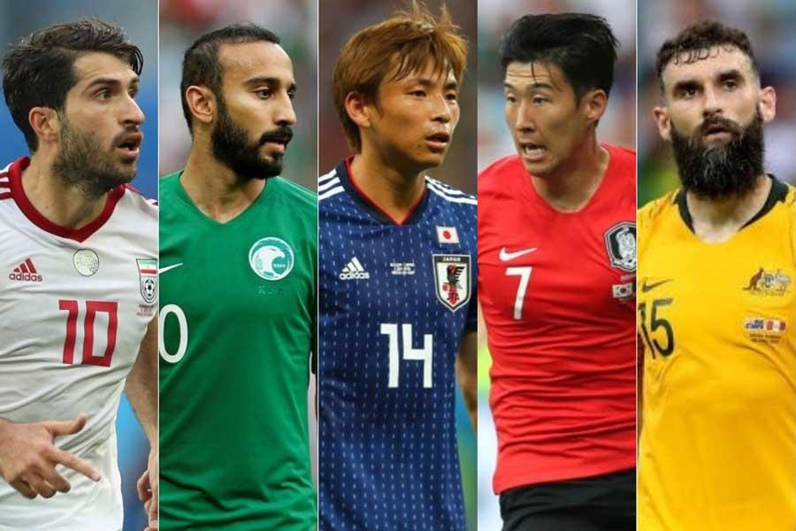 ブラジル大会では1勝もできなかったアジア勢だが、今大会は出場5カ国で4勝3分8敗という成績だった【写真:Getty Images&AP】