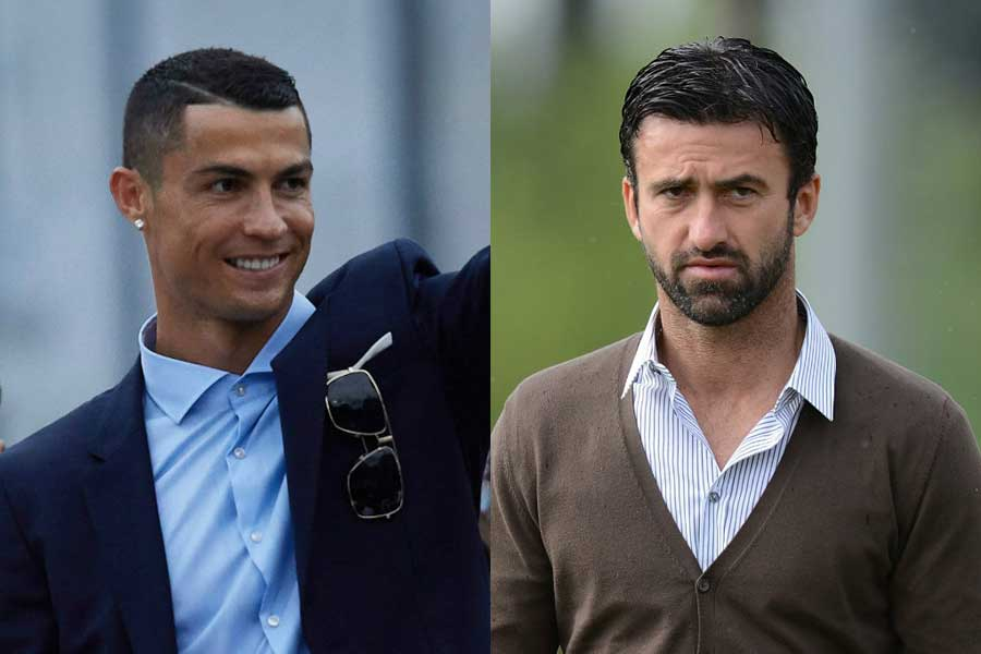 パヌッチ氏(右)は、C・ロナウド(左)がレアル退団を後悔する時がくるだろうと語っている【写真:Getty Images】