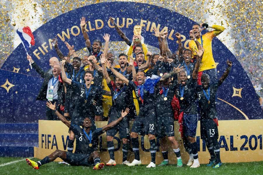 20年ぶりとなる世界制覇を成し遂げたフランス代表【写真:Getty Images】