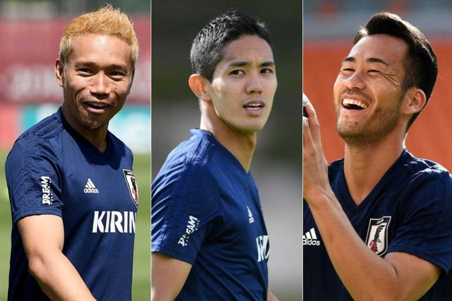 (左から)長友、武藤、吉田の3選手が合同自主トレを行った【写真:Getty Images】
