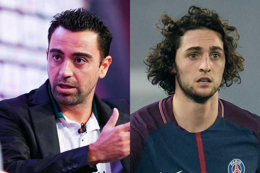 シャビ(左)は古巣バルセロナにラビオ(右)獲得を進言している【写真:Getty Images】
