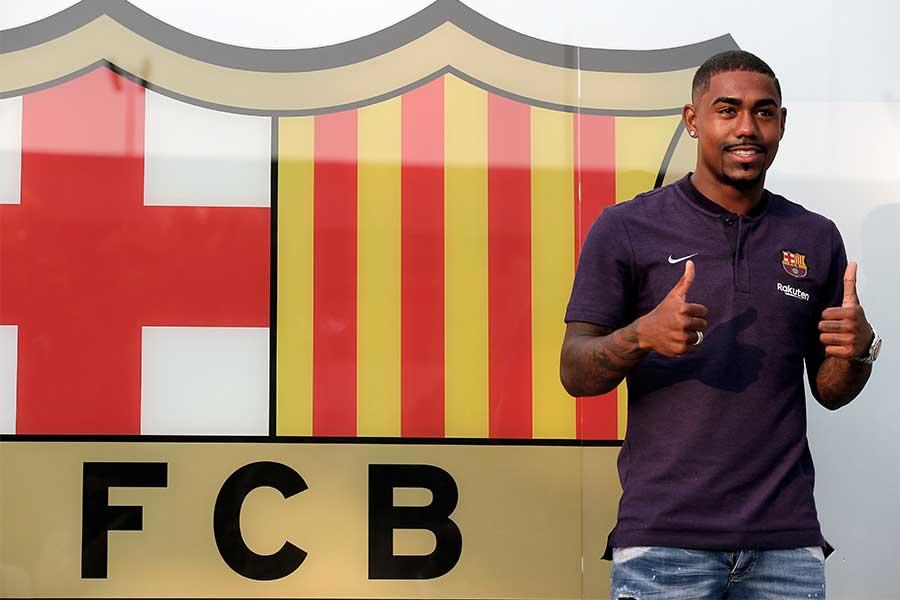 バルセロナに移籍を果たしたマルコム【写真:AP】