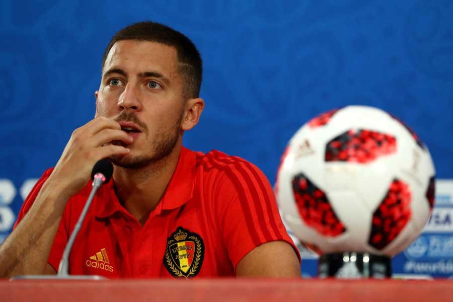 ベルギー主将アザールが準決勝の対戦前に大胆告白【写真:Getty Images】