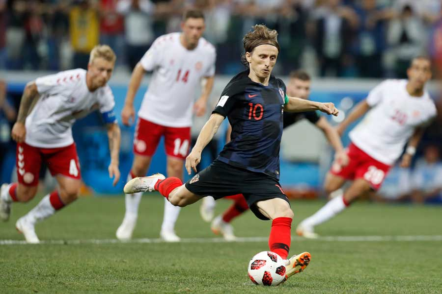 クロアチア代表MFルカ・モドリッチ【写真:AP】