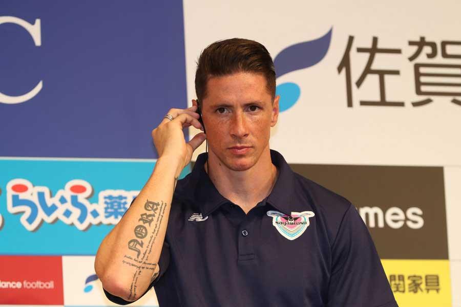 J1サガン鳥栖に加入した元スペイン代表FWフェルナンド・トーレス【写真:Football ZONE web】