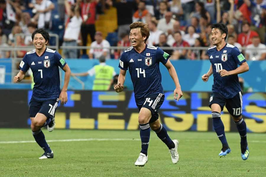 ロシアワールドカップ、アジア勢で唯一の16強進出を果たした日本代表【写真:Getty Images】