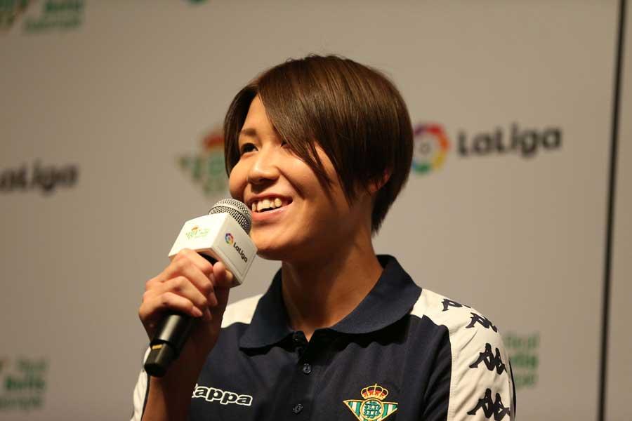 昨年からベティスの女子チームでプレーするなでしこジャパンのGK山根恵里奈【写真:Football ZONE web】