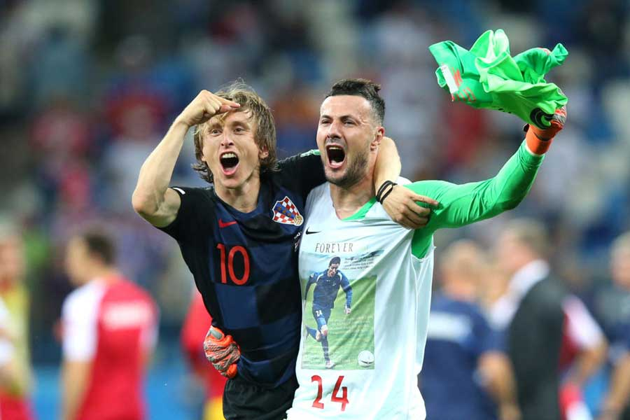 躍進のクロアチア代表を支える主将モドリッチ【写真:Getty Images】