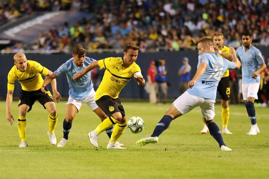 ドルトムントがドイツ代表MFマリオ・ゲッツェの決勝ゴールによってマンチェスター・シティに1-0で勝利した【写真:Getty Images】